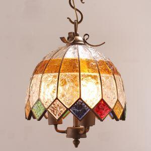 ペンダントライト 天井照明 照明器具 リビング照明 彩色瑠璃照明 ボヘミア風 3灯 D40cm RI807863B