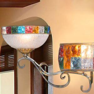 壁掛けライト ブラケット 間接照明 ウォールランプ 玄関照明 瑠璃 ボヘミア風 2灯 RI709352