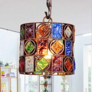 ペンダントライト 天井照明 照明器具 リビング照明 彩色瑠璃照明 ボヘミア風 1灯 RIHP105