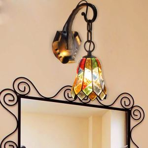 壁掛けライト ブラケット 間接照明 ウォールランプ 玄関照明 瑠璃 ボヘミア風 1灯 RI200916