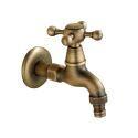 洗濯機用水栓 壁付水栓 洗濯機用単水栓 横水栓 真鍮製 ブロンズ色 TB001