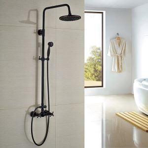 浴室シャワー水栓 レインシャワーシステム バス水栓 ヘッドシャワー+ハンドシャワー ORB アンティーク調 YMS014