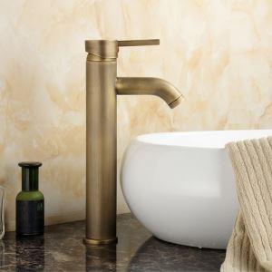 バス水栓 洗面蛇口 浴室水栓 水道蛇口 冷熱混合水栓 真鍮製 ブロンズ色 TB-004