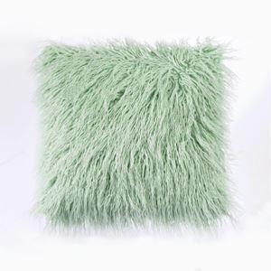 クッションカバー 抱き枕カバー 人工アフリカンラム 人工毛皮 5色 北欧風 50*50cm 06DP022