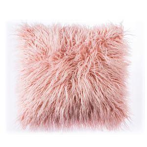 クッションカバー 抱き枕カバー 人工アフリカンラム 人工毛皮 5色 北欧風 45*45cm 06DP023