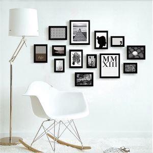 壁掛けフォトフレーム 写真用額縁 フォトデコレーション 木製 13個セット 複数枚