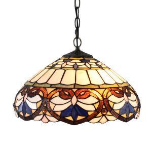 ペンダントライト ステンドグラスランプ ティファニーライト リビング照明 ダイニング照明 寝室照明 2灯 D40cm LTPL025