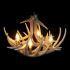 シャンデリア ペンダントライト リビング照明 ダイニング照明 鹿角照明 店舗 樹脂製 4灯 茶褐色 北欧風 LED対応