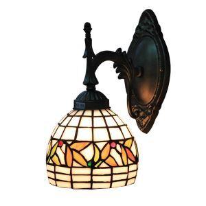 ステンドグラスランプ 壁掛け照明 ティファニーライト ブラケット ウォールライト 照明器具 1灯 6in WL003