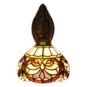 ステンドグラスランプ 壁掛け照明 ブラケット 玄関照明 照明器具 1灯 6in WL006