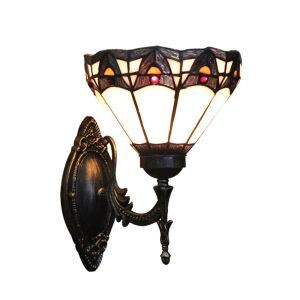 ステンドグラスランプ 壁掛け照明 ブラケット ウォールライト 1灯 8in WL007