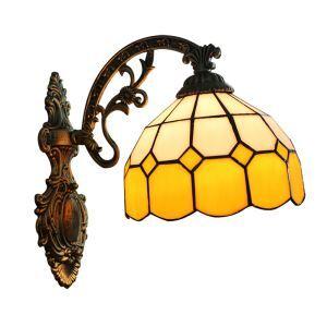 ステンドグラスランプ 壁掛け照明 ブラケット 玄関照明 照明器具 1灯 8in WL015