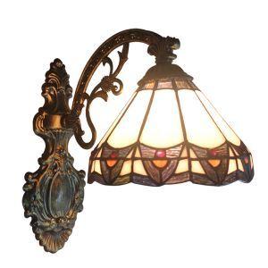 ステンドグラスランプ 壁掛け照明 ブラケット 玄関照明 照明器具 1灯 8in WL020
