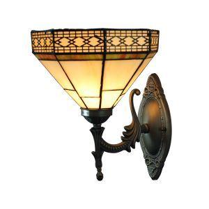 ステンドグラスランプ 壁掛け照明 ブラケット 玄関照明 照明器具 1灯 8in WL039