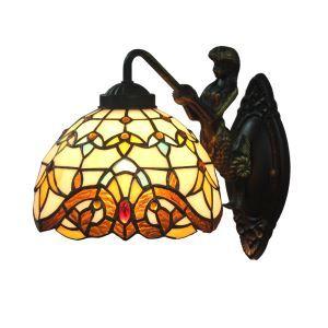 ステンドグラスランプ 壁掛け照明 ブラケット 玄関照明 照明器具 1灯 8in WL042