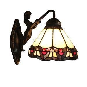 ステンドグラスランプ 壁掛け照明 ブラケット 玄関照明 照明器具 1灯 8in WL043