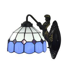 ステンドグラスランプ 壁掛け照明 ブラケット 玄関照明 照明器具 1灯 8in WL044