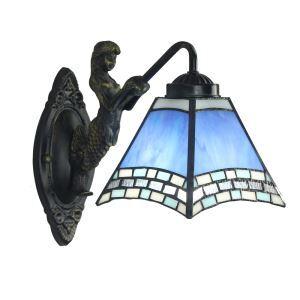 ステンドグラスランプ 壁掛け照明 ブラケット 玄関照明 ウォールライト 1灯 8in WL050