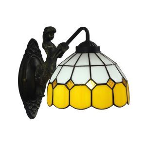 壁掛け照明 ステンドグラスランプ ブラケット 玄関照明 ウォールライト 1灯 8in WL052