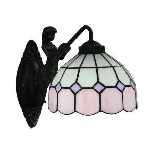 ステンドグラスランプ 壁掛け照明 ブラケット 玄関照明 ウォールライト 1灯 8in WL053
