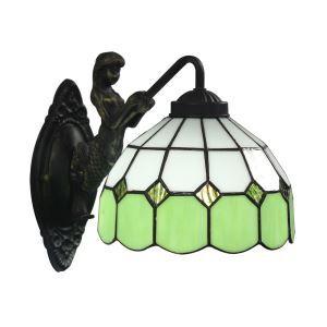 ステンドグラスランプ 壁掛け照明 ブラケット 玄関照明 ウォールライト 1灯 8in WL054