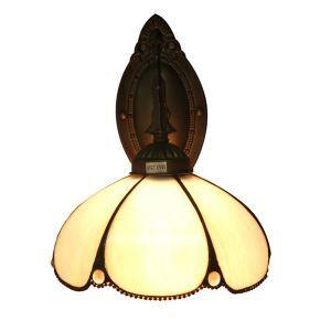ステンドグラスランプ 壁掛け照明 ブラケット 玄関照明 照明器具 1灯 8in WL058