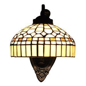 ステンドグラスランプ 壁掛け照明 ブラケット 玄関照明 照明器具 1灯 8in WL060