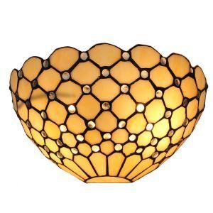 ステンドグラスランプ 壁掛け照明 ティファニーライト ブラケット 玄関照明 網柄 1灯 12in WL079