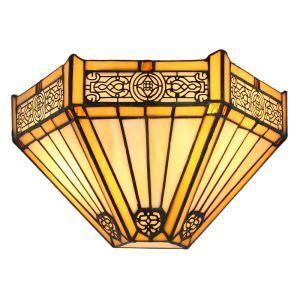 ステンドグラスランプ 壁掛け照明 ブラケット 玄関照明 ウォールライト 1灯 12in WL092