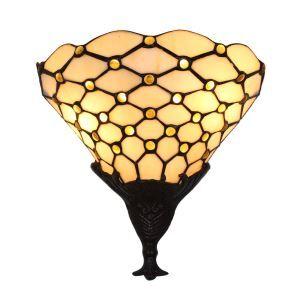壁掛け照明 ステンドグラスランプ ブラケット 玄関照明 網柄 1灯 10in WL094