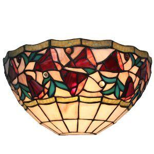 ステンドグラスランプ 壁掛け照明 ティファニーライト ブラケット 玄関照明 ウォールライト 1灯 12in WL125