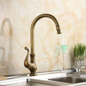 キッチン蛇口 台所蛇口 冷熱混合栓 水道蛇口 水栓金具 回転可能 ブラス FTTB057