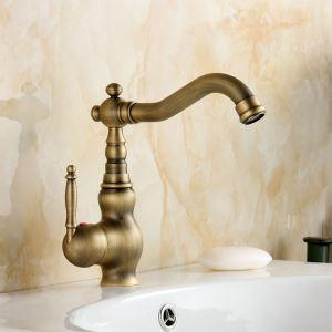 洗面蛇口 バス水栓 浴室蛇口 冷熱混合水栓 水道金具 真鍮製 ブロンズ色 FTTB059