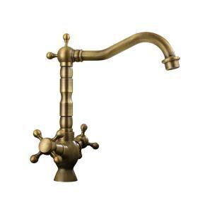 洗面蛇口 バス水栓 浴室蛇口 2ハンドル混合栓 真鍮製 ブロンズ色 FTTB070