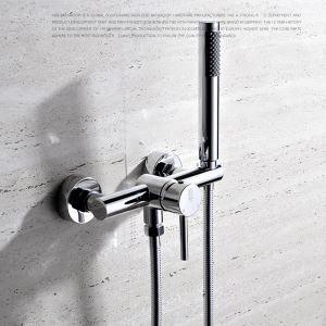 浴室シャワー水栓 バス蛇口 ハンドシャワー 混合栓 風呂用 水栓金具 クロム FTTB022