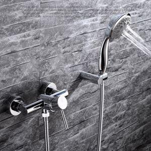 浴室シャワー水栓 バス蛇口 ハンドシャワー 混合栓 風呂用 水栓金具 クロム FTTB023