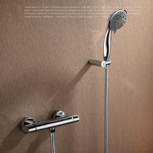 浴室シャワー水栓 バス蛇口 ハンドシャワー 混合栓 水栓金具 風呂用 クロム FTTB025
