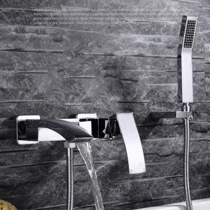 浴室シャワー水栓 バス蛇口 ハンドシャワー 混合栓 蛇口付き 風呂用 クロム FTTB033