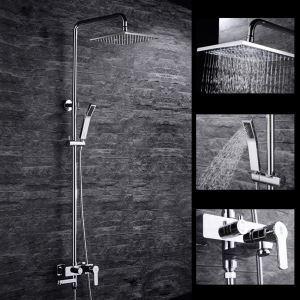 浴室シャワー水栓 レインシャワーシステム シャワーバー ヘッドシャワー+ハンドシャワー+蛇口 バス水栓 FTTB040