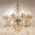 シャンデリア クリスタル リビング照明 ダイニング照明 寝室照明 豪華 10灯 LED電球対応