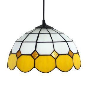 ペンダントライト ステンドグラスランプ ティファニーライト 照明器具 ダイニング照明 黄白色 D30cm LTPL130