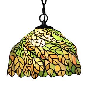 ペンダントライト ステンドグラスランプ ティファニーライト 照明器具 ダイニング照明 葉柄 1灯 D30cm