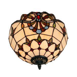 シーリングライト ステンドグラス照明 玄関照明 2灯 D30cm LTFM001