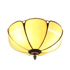 シーリングライト ステンドグラス照明 玄関照明 傘型 2灯 D30cm LTFM002