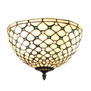 シーリングライト ステンドグラス照明 玄関照明 2灯 D30cm LTFM003