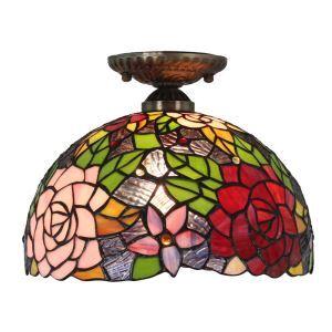 シーリングライト ステンドグラス照明 玄関照明 D30cm LTFM012
