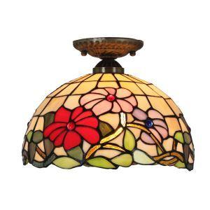 シーリングライト ステンドグラス照明 玄関照明 D30cm LTFM015