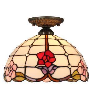 シーリングライト ステンドグラス照明 玄関照明 D30cm LTFM018