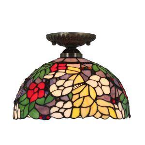 シーリングライト ステンドグラス照明 玄関照明 D30cm LTFM019