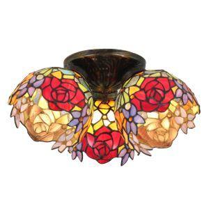 シーリングライト ティファニーライト ステンドグラス照明 玄関照明 3灯 D30cm LTFM021